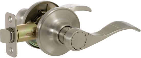 Shop Portfolio 3 Light Vassar Brushed Nickel Bathroom: Callan Bennett Series Grade 3 Privacy Lever Set
